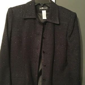 Sag Harbor Black sparkle Blazer size 8 Lined
